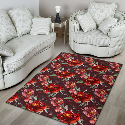 Royal Rose Garden Area Rug