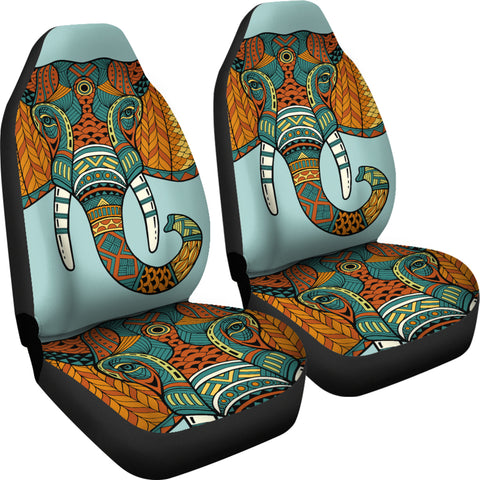 Image of Mandala Elephant Head Car Seat Covers