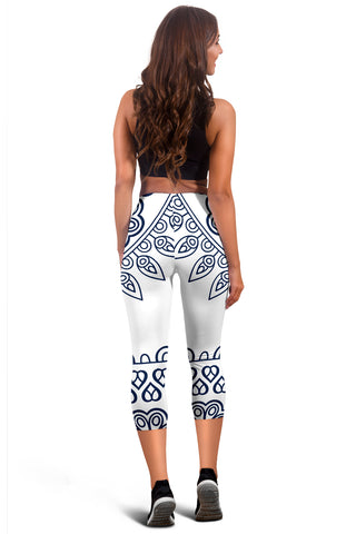 Mandala Capris Leggings