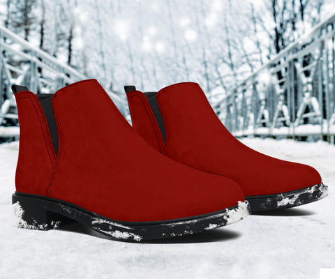 Vegan Red Fashion Boots