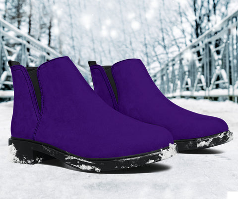 Vegan Purple Fashion Boots
