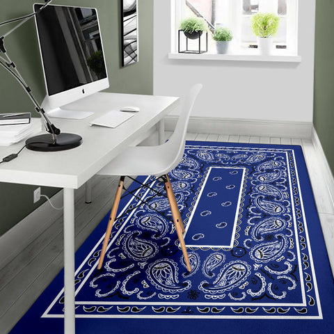 Royal Blue Bandana Area Rug