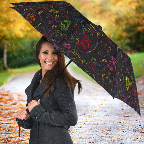 Image of Rainbow Open Road Girl Umbrella