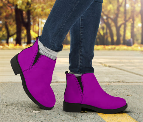 Vegan Pink Fashion Boots