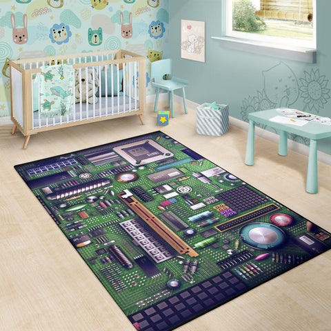Image of Circuit Board  Area  Rug