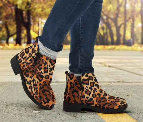 Leopard Pop Art - Suede Boots