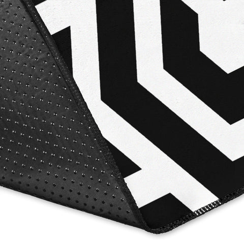 Black And White Hexagon Area Rug