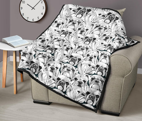Image of Bulldog Printed Quilt