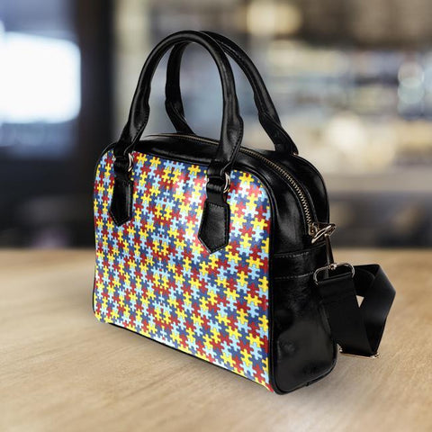 Image of Autism Awareness Leather Handbag - Spicy Prints