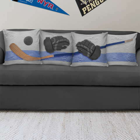 "Hockey Collection 18"" Pillow Covers - Spicy Prints"
