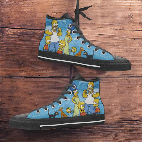 Simpsons Canvas High Tops - Spicy Prints