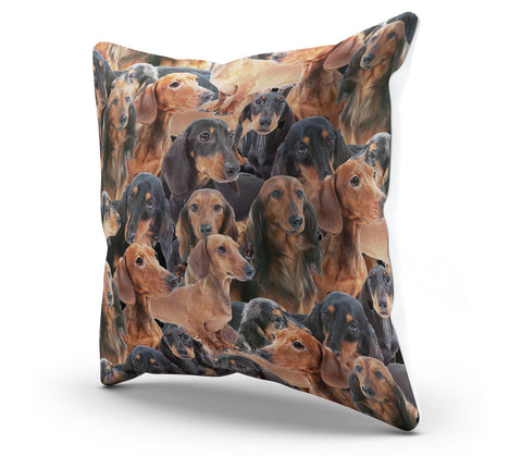 "Image of Wiener Dog 18"" Pillow Cover - Spicy Prints"