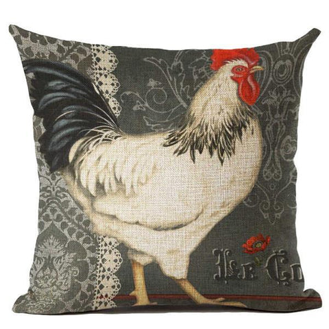 Image of Vintage Cock Decorative Pillowcase - Spicy Prints