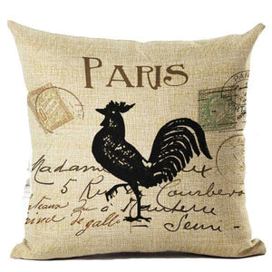 Vintage Cock Decorative Pillowcase - Spicy Prints