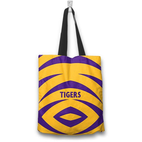 "Purple Gold Tigers 16"" Tote Bag - Spicy Prints"