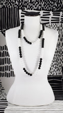 BLACK AND WHITE STRIPE NECKLACE (CHOKER, MEDIUM & LONG)
