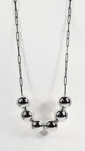 CHROME SPHERE NECKLACE (LONG)