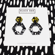 HEXAGON DANGLE EARRING - Available in various colors