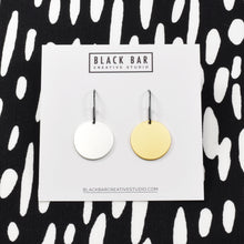 COIN DROP EARRINGS - Matte Gold, Matte Silver, and Mixed Metals Pairs