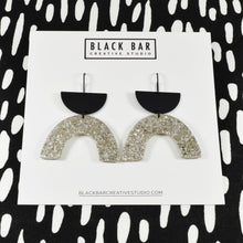HALF DISC ARCH EARRINGS - Available in various colors