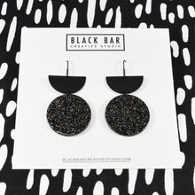 HALF DISC ROUND EARRINGS - Available in various colors