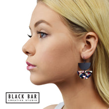 HALF DISC DUO EARRINGS - Available in various colors