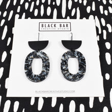 HALF DISC OVAL EARRINGS - LARGE - Available in various colors