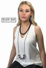 FISHBONE NECKLACE - Matte Black, and Matte Silver