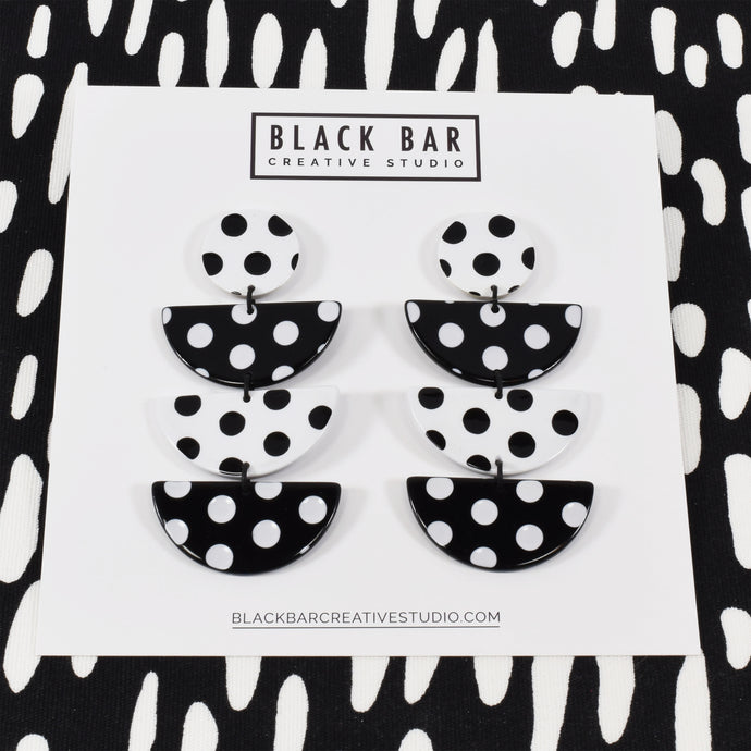 HALF DISC EARRINGS - XL