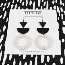 TRIANGLE HALF DISC CIRCLE EARRINGS - Available in various colors