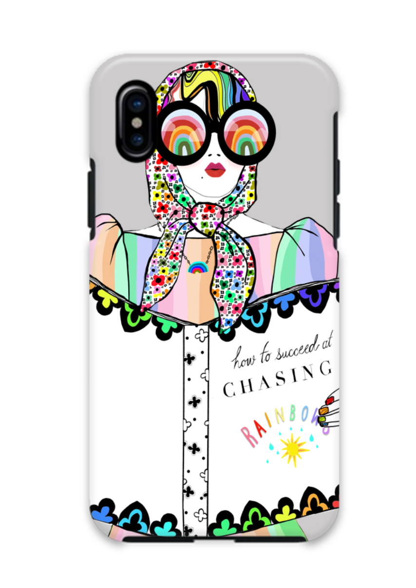 How To Succeed At Chasing Rainbows  iPhone X/Xs Case