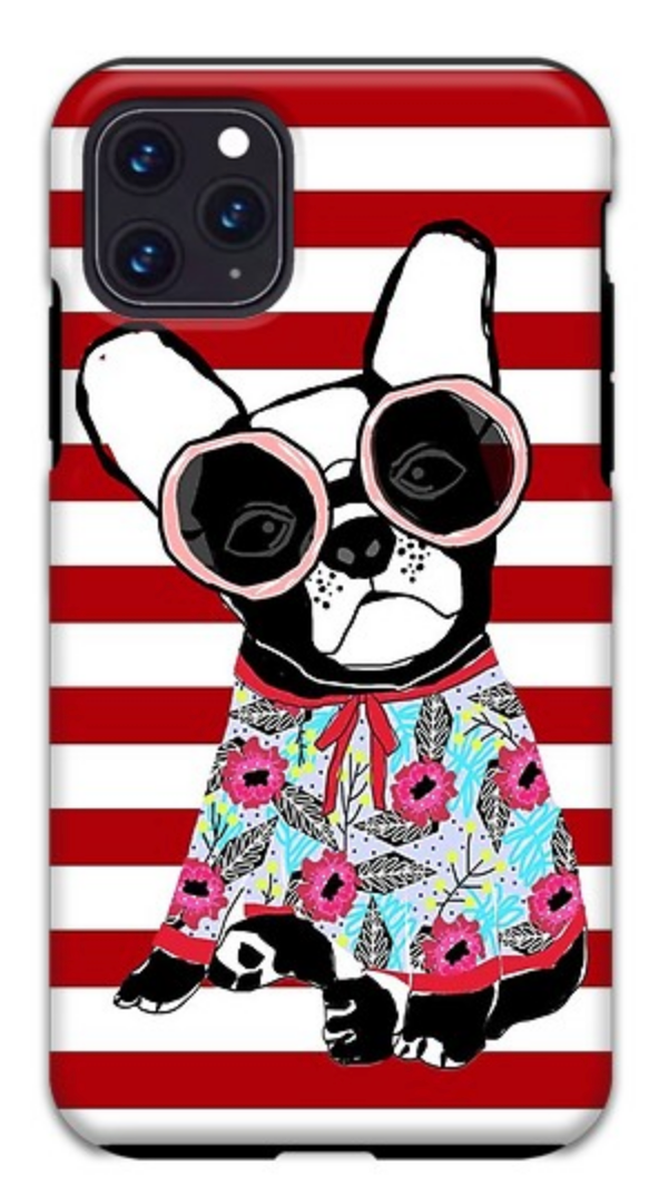 Frenchie With Stripes iPhone Case