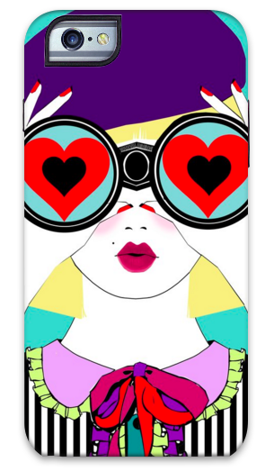 Heart Binoculars iPhone Case