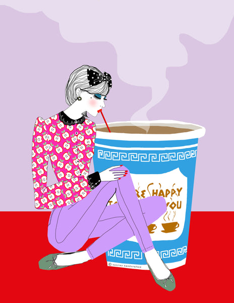 Coffee Sip (GREETING CARD)