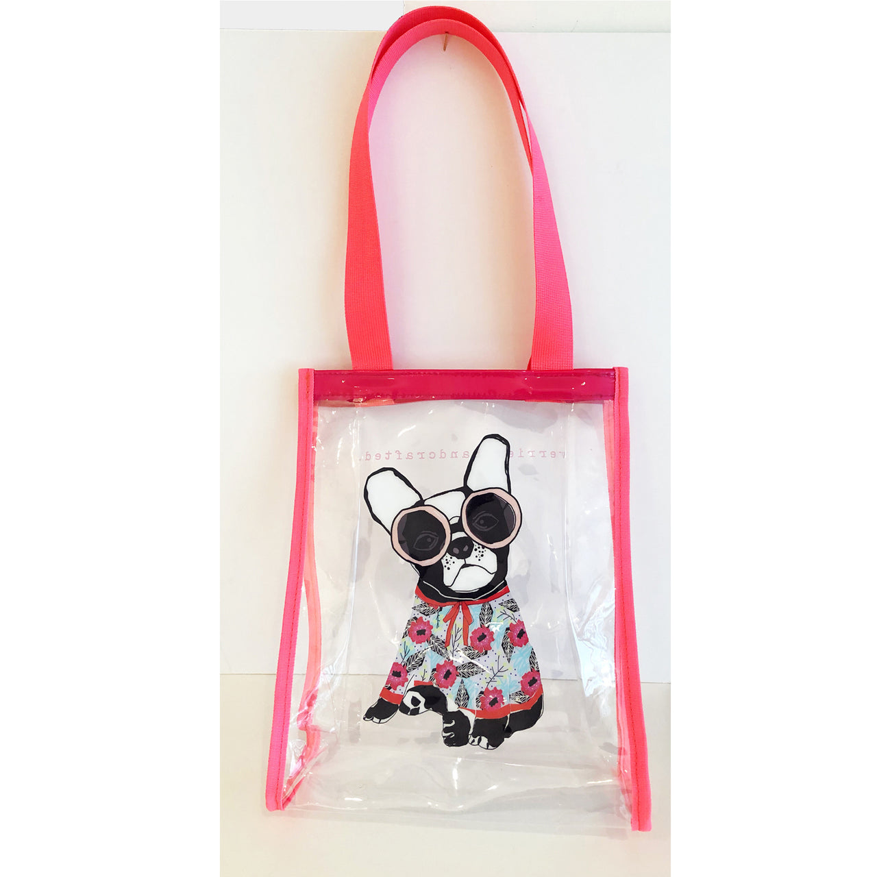 Frenchie Clear Vinyl Bag