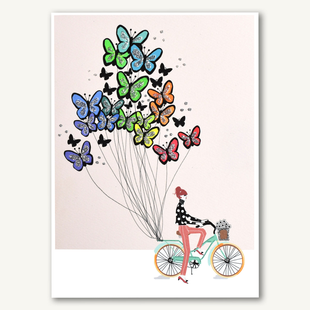 Bicycle With Butterfly Balloons