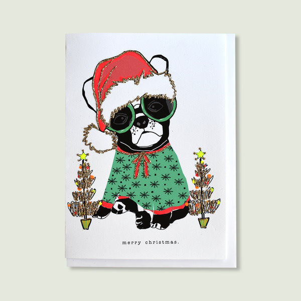 Merry Christmas. (French Bulldog)