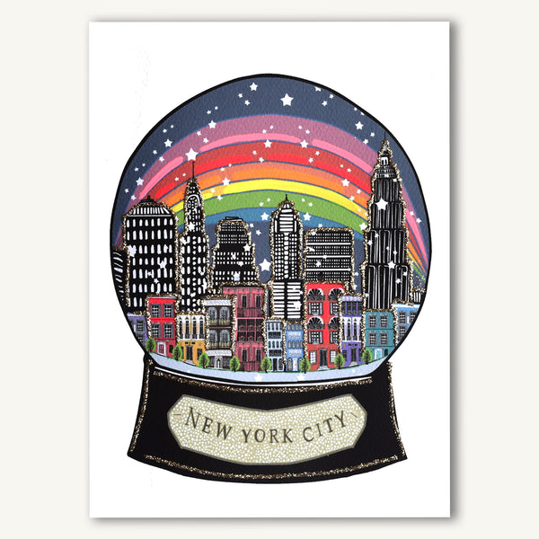 New York City Rainbow Snowglobe