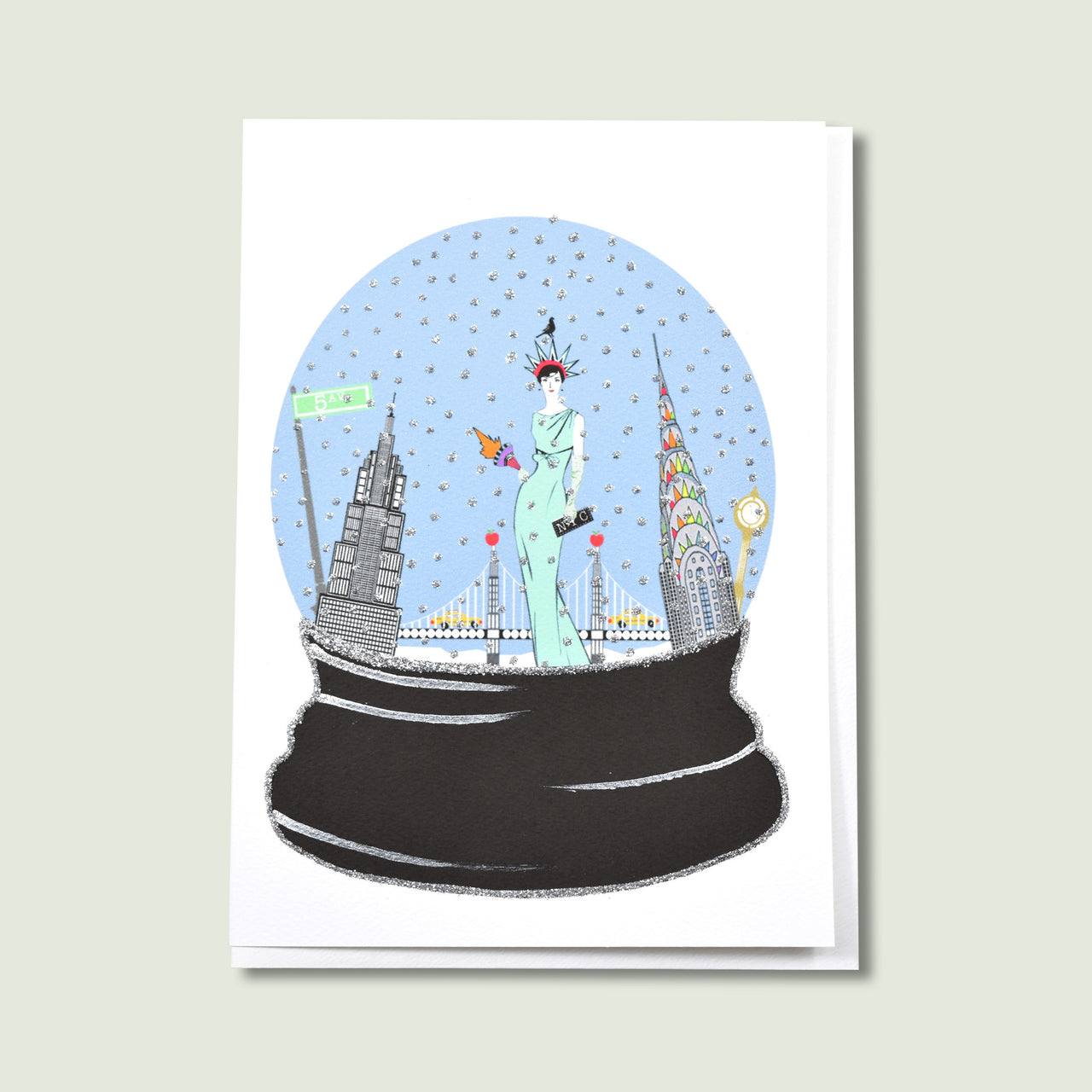 NYC Holiday Snow Globe
