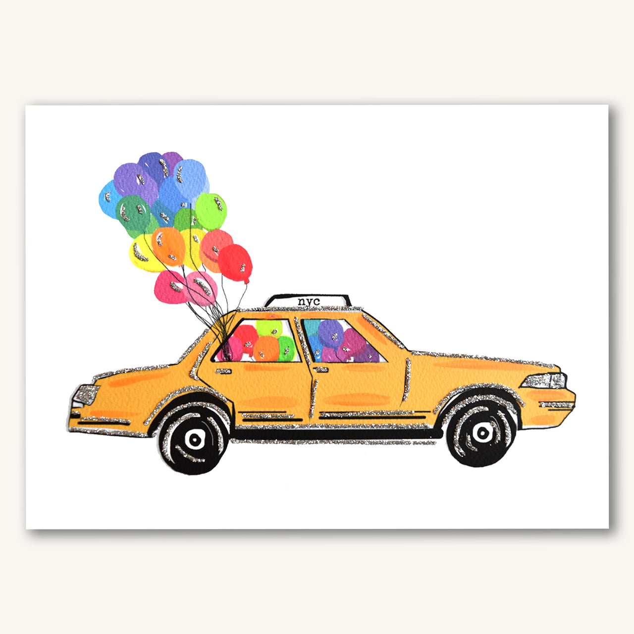 NYC Taxi With Balloons