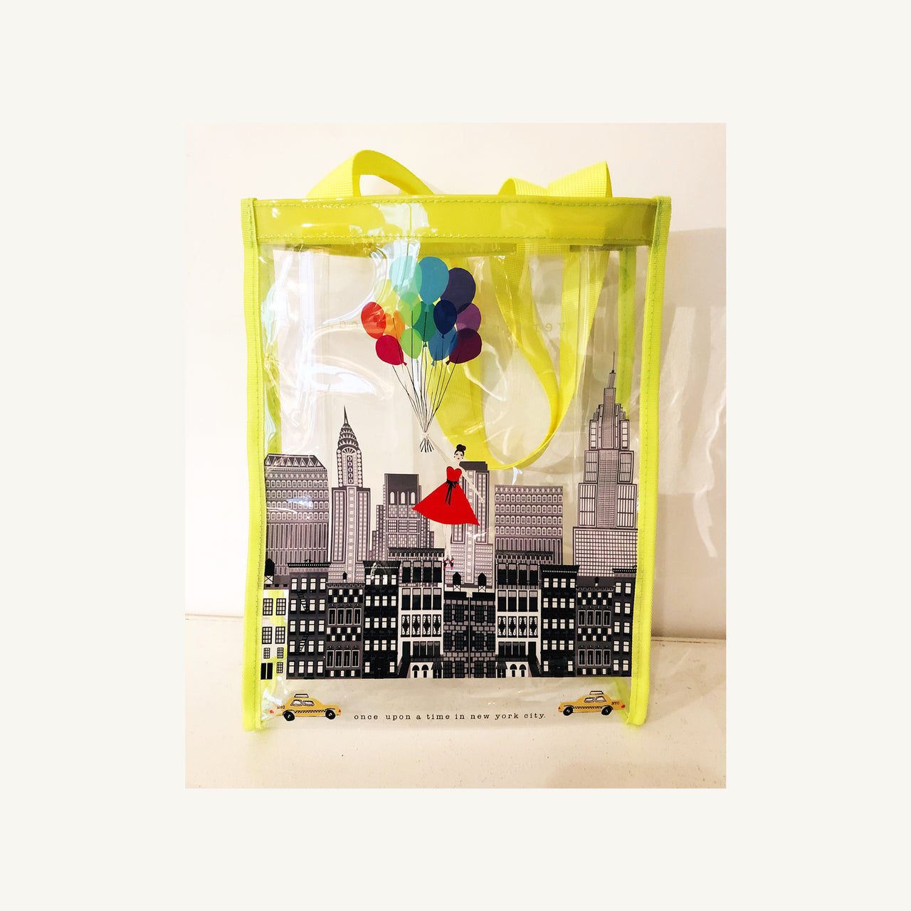 Once Upon A Time In New York City Clear Vinyl Bag