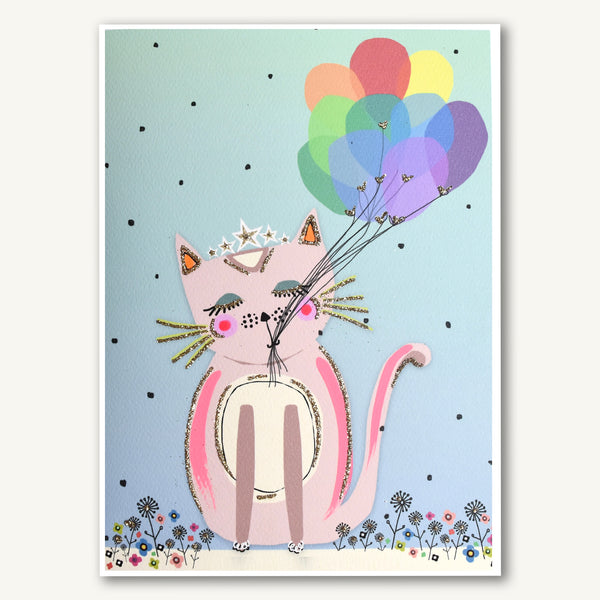 Purfect Cat With Balloons