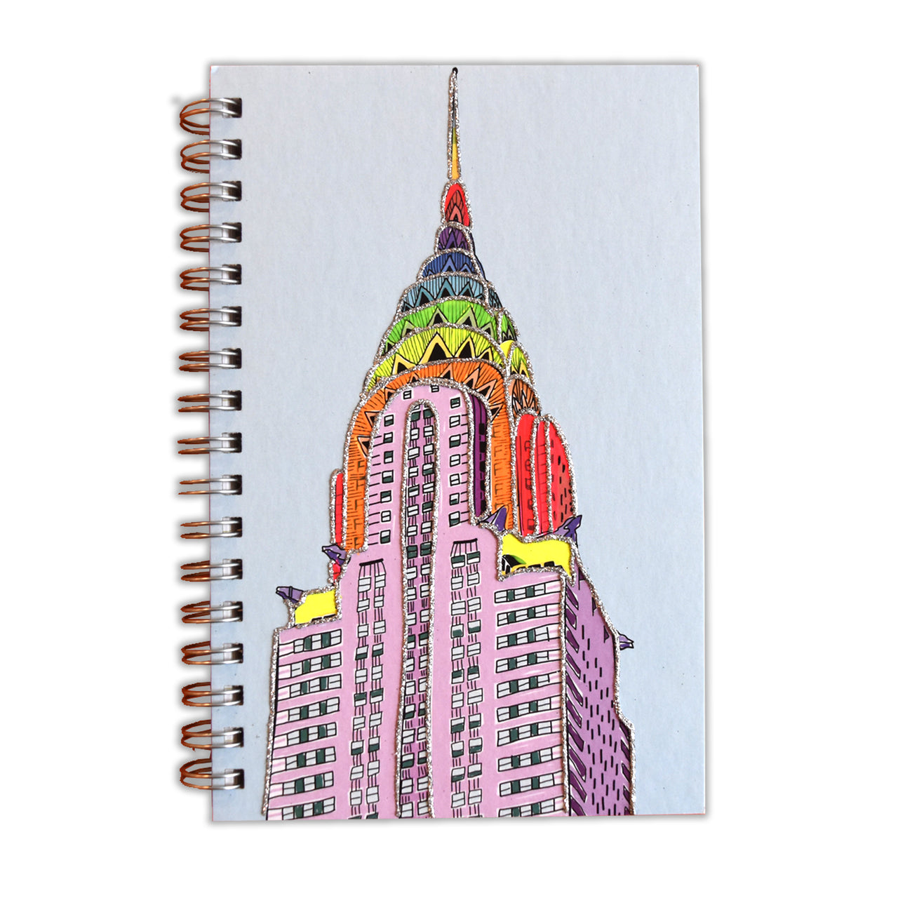 Rainbow Chrysler Building Notebook
