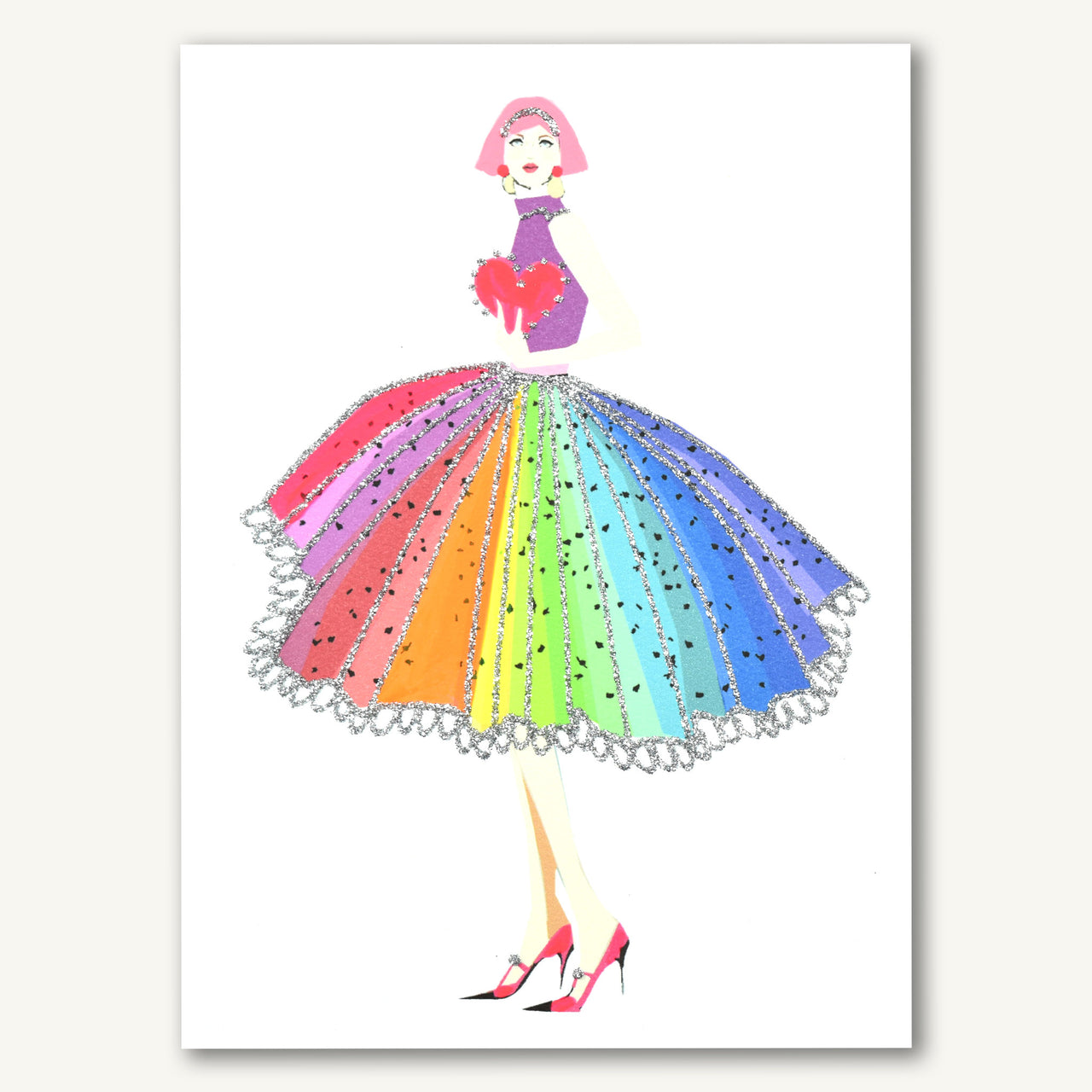 Rainbow Dress With Heart