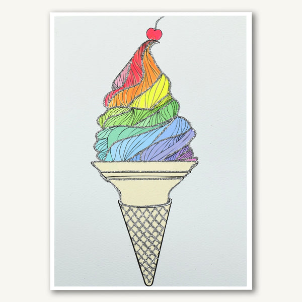 Rainbow Ice Cream Cone
