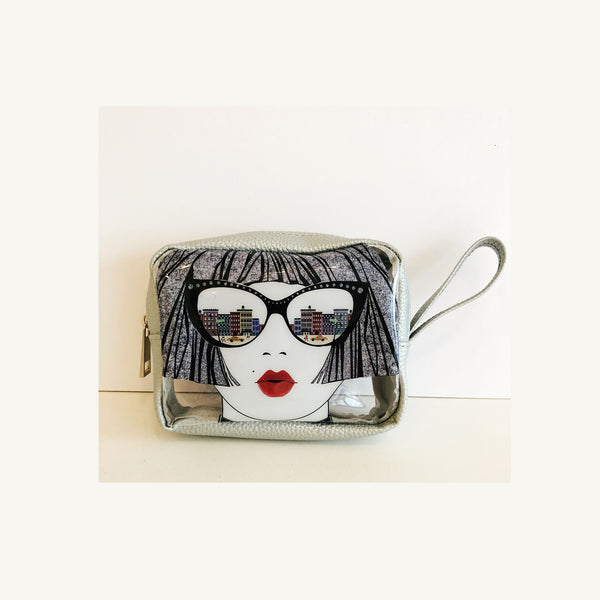 Take Me To NYC Vinyl Cosmetic Bag
