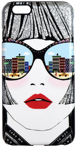Take Me To NYC Embellished iPhone Case