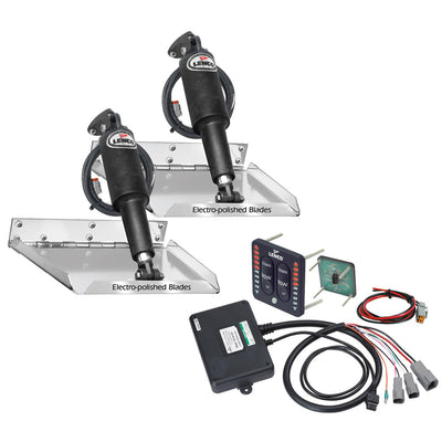 Lenco 12 x 9 Standard Performance Trim Tab Kit w LED Indicator Switch Kit 12V