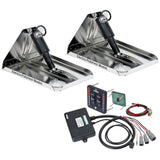 Lenco 12 x 12 Heavy Duty Performance Trim Tab Kit w LED Indicator Switch Kit 12V