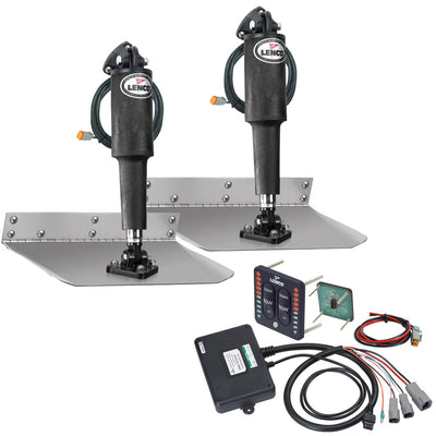 Lenco 9 x 18 Standard Trim Tab Kit w LED Indicator Switch Kit 12V